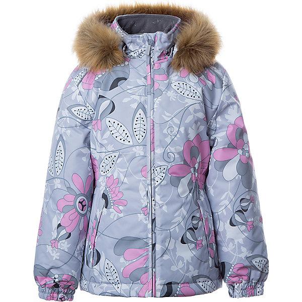 Купить Утепленная куртка Huppa Marii, Китай, светло-серый, 140, 110, 116, 122, 128, 134, Женский