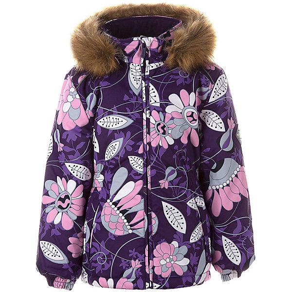 Купить Утепленная куртка Huppa Marii, Китай, лиловый, 134, 140, 110, 116, 122, 128, Женский