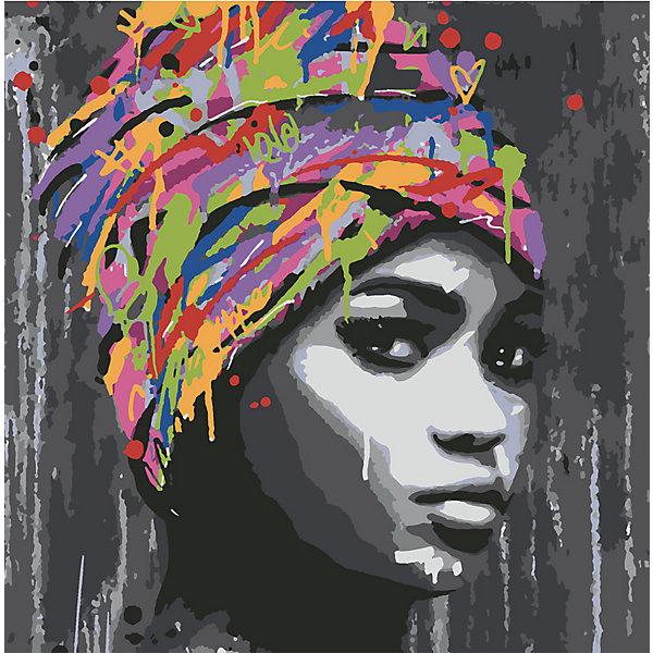 Купить Картина по номерам Котеин Африканская девушка , 30х30 см, Россия, разноцветный, Унисекс
