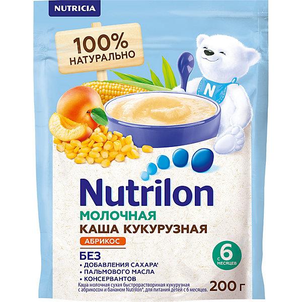 Nutrilon Молочная каша Nutrilon кукурузная, абрикосо-банановая с 6 мес, 6 шт по 200 г