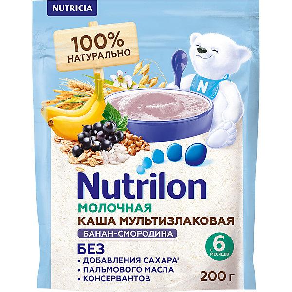 Nutrilon Молочная каша Nutrilon мультизлавоковая, банан, черная смородина с 6 мес 200 г