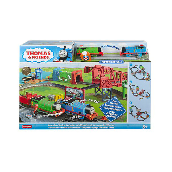 """Железная дорога Томас и его друзья """"День на острове Содор"""" Mattel Железная дорога Томас и его друзья """"День на острове Содор"""" разноцветного цвета"""