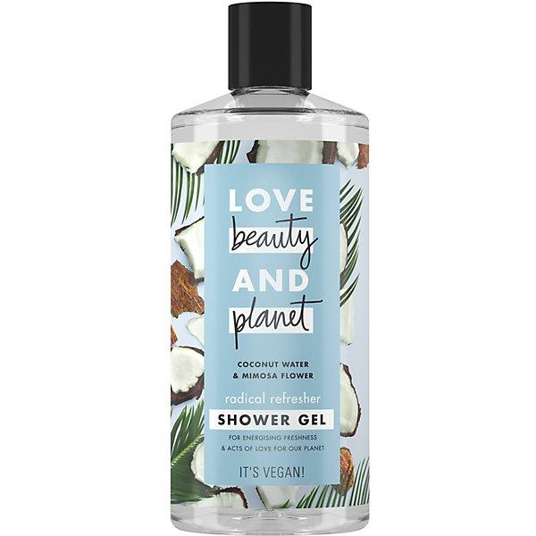 Love Beauty and Planet Гель для душа Love Beauty and Planet кокосовая вода и цветы мимозы, 400 мл гель для душа love beauty and planet чайное дерево и ветивер 400 мл