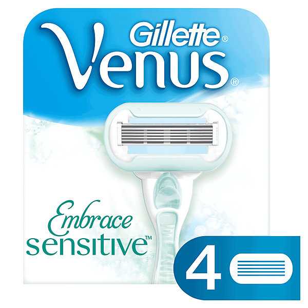 Gillette Сменные кассеты для бритвы Gillette Venus Sensitive (для чувствительной кожи), 4 шт сменные кассеты для бритья gillette venus breeze 4 шт [80244192]
