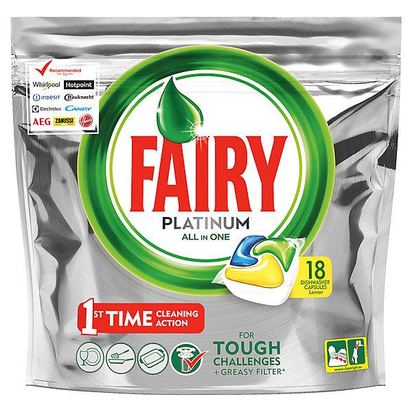 Картинка для Fairy Капсулы для посудомоечной машины Fairy Platinum All in One Лимон 18 шт/уп