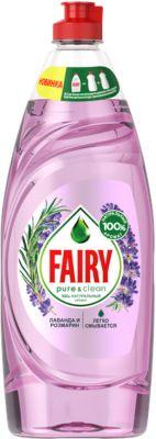 Картинка для Fairy Средство для мытья посуды Fairy Pure & Clean Лаванда и Розмарин 650 мл
