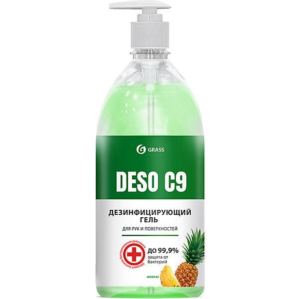 Grass Дезинфицирующее средство Grass Deso C9 gel Ананас на основе изопропилового спирта, 1000 мл недорого