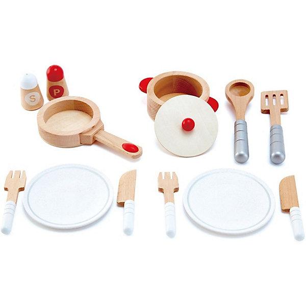 Купить Набор посуды Hape, 13 предметов, Швейцария, разноцветный, Женский