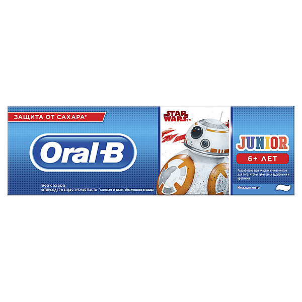 Oral-B Зубная паста Oral-B Junior StarWars, с 6 лет, 75 мл oral b зубная паста pro expert stages star wars ягодный взрыв berry bubble 75 мл