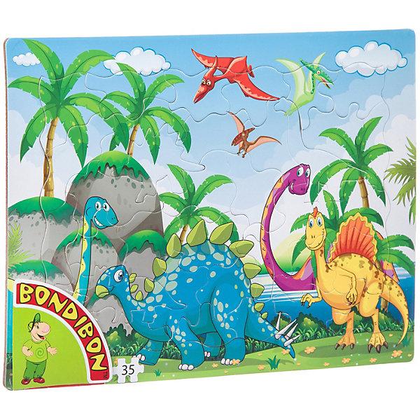 Купить Пазл Bondibon «Динозавры», 35 деталей, Китай, Унисекс
