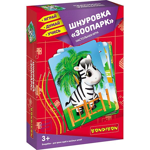 Bondibon Настольная игра Bondibon Шнуровка Зоопарк