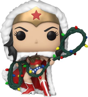Funko POP! Фигурка Funko POP! Vinyl: DC: Holiday: Чудо-женщина с лассо, 50652 funko pop фигурка funko pop vinyl dc holiday рудольф флэш 50654