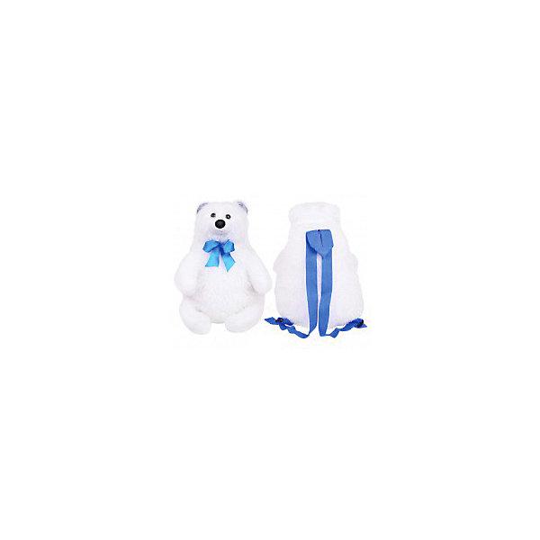 "Мягкая игрушка-рюкзак Malvina ""Мишка Полярник"" Мальвина Мягкая игрушка-рюкзак Malvina ""Мишка Полярник"" белого цвета"