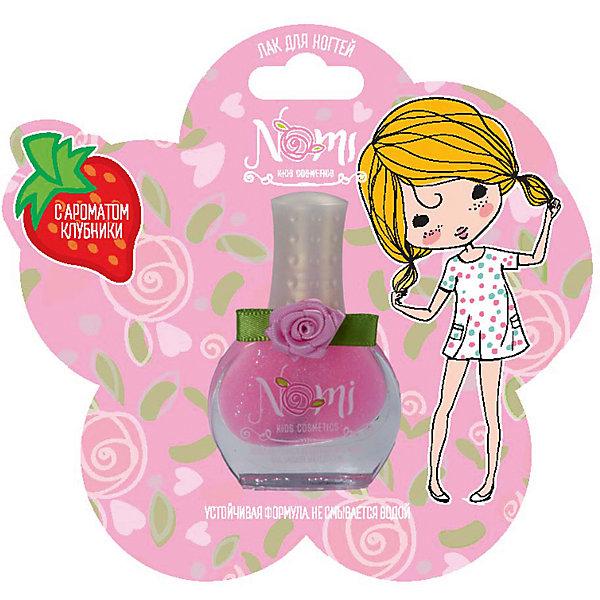Лак для ногтей Nomi Розовая заря, с блёстками, 7 мл