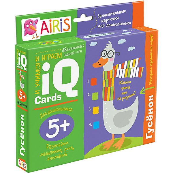 АЙРИС-пресс Набор занимательных карточек для дошколят Гусёнок айрис пресс занимательные карточки для дошколят львенок