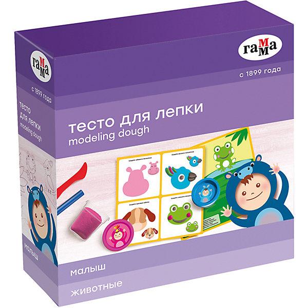"""Игровой набор теста для лепки с карточкой Гамма """"Животные"""", 5 цветов"""
