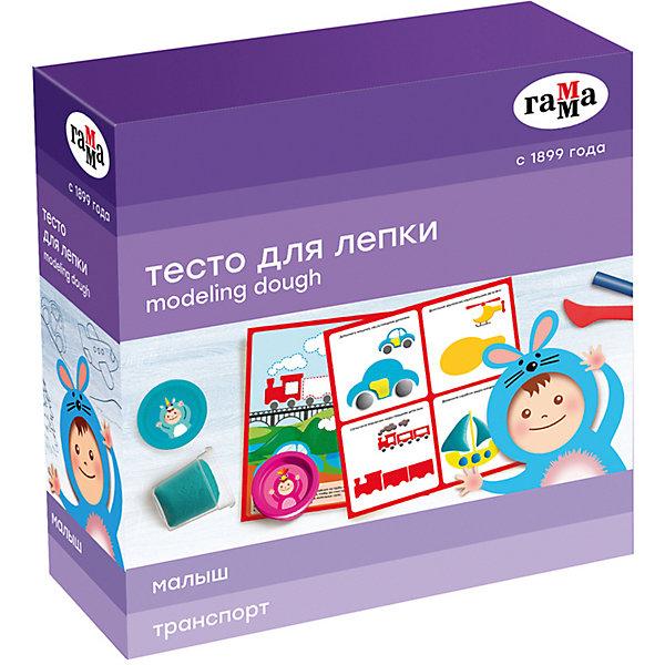 """Игровой набор теста для лепки с карточкой Гамма """"Транспорт"""", 5 цветов"""