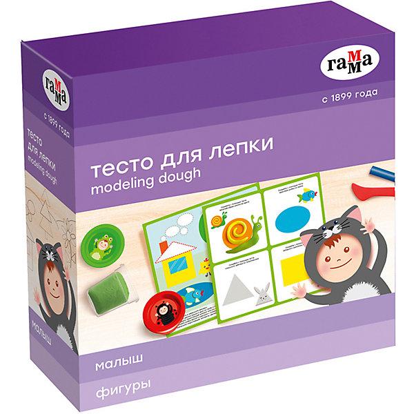 """Игровой набор теста для лепки с карточкой Гамма """"Фигуры"""", 5 цветов"""