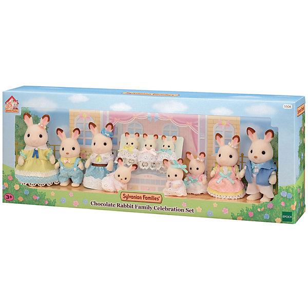 Эпоха Чудес Игровой набор Sylvanian Families Семейное торжество Шоколадных кроликов набор семья кроликов sylvanian families