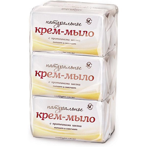Невская косметика Крем-мыло Невская Косметика Натуральное с протеинами шелка 90 г, 6 шт недорого