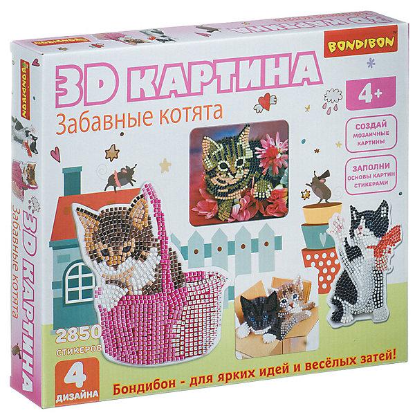 """Картинка для Bondibon Набор для творчества Bondibon """"3D картина. Забавные котята"""""""