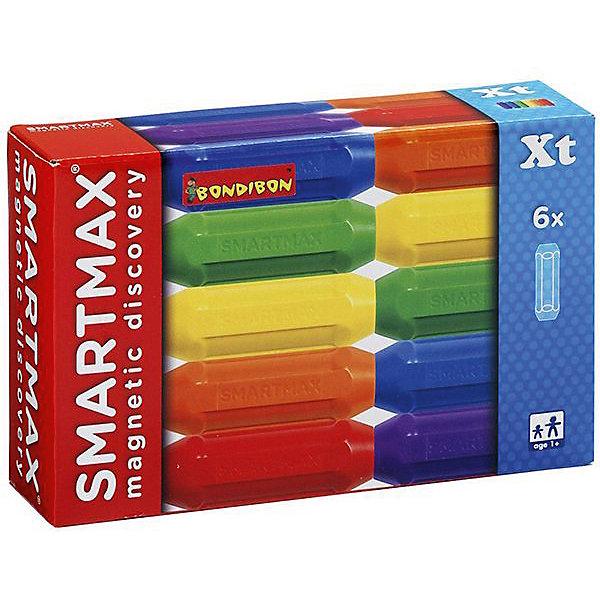 """Картинка для Bondibon Магнитный конструктор Bondibon SmartMax """"Дополнительный набор"""" 6 коротких палочек"""