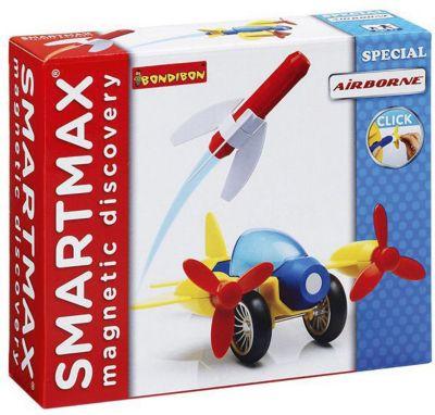 """Картинка для Bondibon Магнитный конструктор Bondibon SmartMax """"Специальный набор"""" Полёт, 9 деталей"""