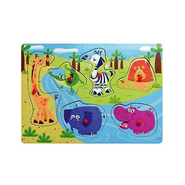 Фото - Bondibon Рамка-вкладыш Bondibon Baby You Дикие животные bondibon мозаика динозавры и дикие животные baby you вв3744