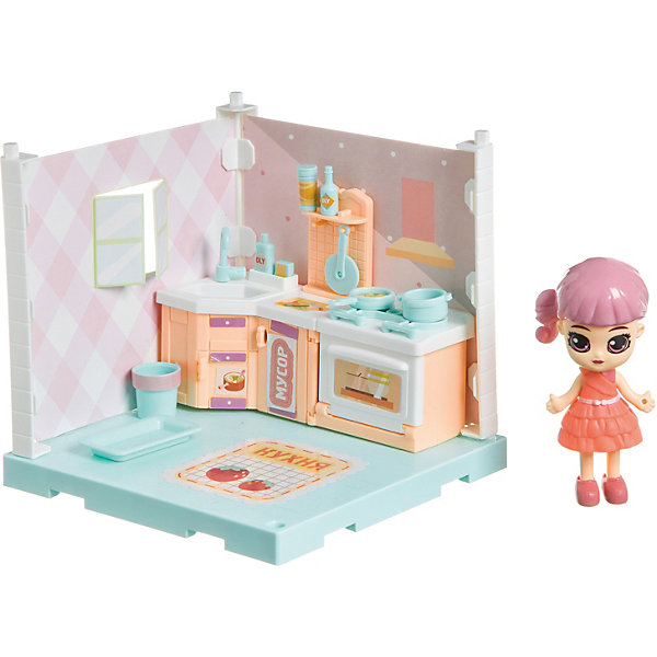 Купить Игровой набор Bondibon Oly Кукольный уголок Кухня с куколкой, Китай, Женский