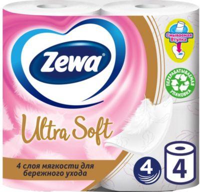 Фото - Zewa Туалетная бумага Zewa Ultra Soft, 4 слоя, 4 рулона хозяйственные товары officeclean туалетная бумага 2 слоя 4 шт