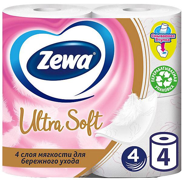 Туалетная бумага Zewa Ultra Soft, 4 слоя, 4 рулона