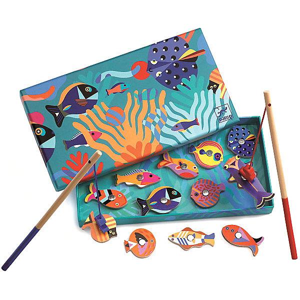 Фото - DJECO Магнитная игра DJECO Рыбалка Рыбки бирюлька djeco рыбалка цвета разноцветный