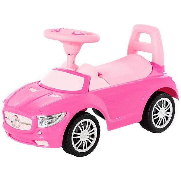 Купить Каталка-автомобиль Полесье SuperCar №1, звук, Беларусь, розовый, Унисекс