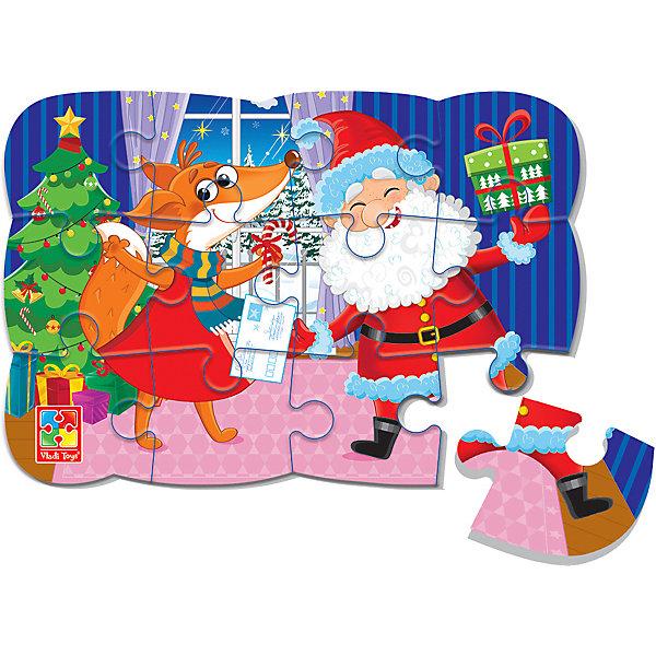 Vladi Toys Пазл на магните Vladi Toys Новогоднее веселье, 12 элементов vladi toys пазл магнитный vladi toys колобок