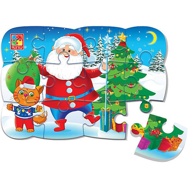 Vladi Toys Пазл на магните Vladi Toys Дед Мороз и котик, 12 элементов vladi toys пазл магнитный vladi toys колобок
