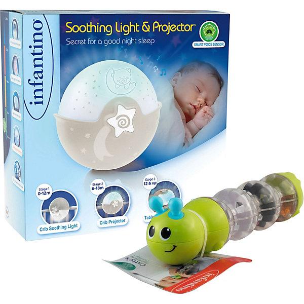 Ночник-проектор Infantino с вращающейся погремушкой Кэтти , Китай, бежевый, Унисекс  - купить со скидкой
