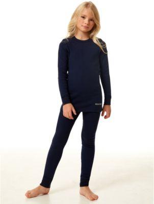 детское термобелье и флис Montero Термобелье для девочек Cotton Comfort Everyday MCLCCEG0102/темносиний