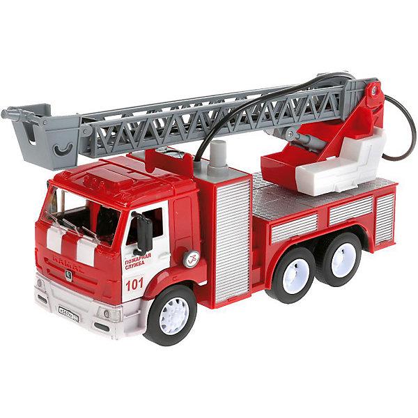 Купить Пожарная машинка Технопарк Камаз, 26 см, свет, звук, ТЕХНОПАРК, Китай, Мужской