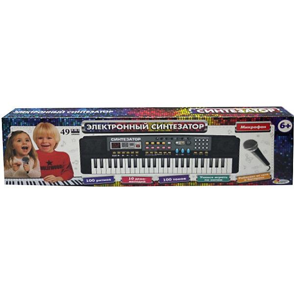 Играем вместе Электронный синтезатор Играем вместе, 49 клавиш манок электронный cass creek на лису 5 звуков