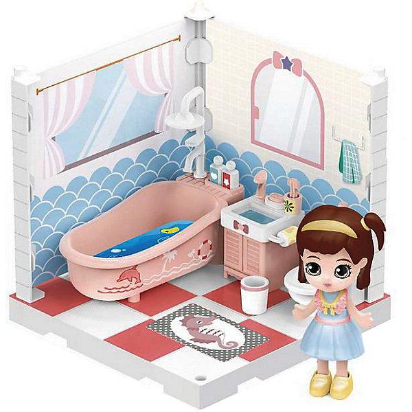ABtoys Модульный домик ABtoys Мини-кукла в ванной комнате, 1 секция