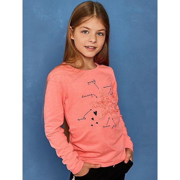 Купить Лонгслив Juno, -, Индия, розовый, 116, 152, 110, 122, 128, 134, 140, 146, Женский