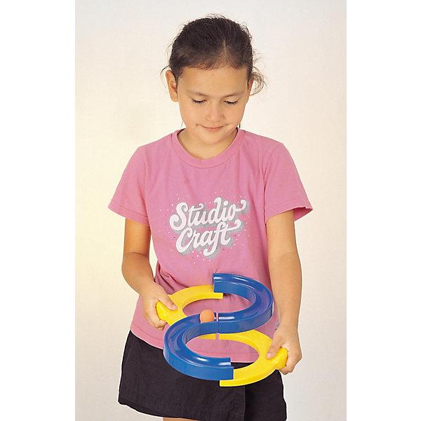 Бесконечная петля WePlay, малая, 34*21*4,5 смИгровые наборы<br>Характеристики товара:<br>• возраст: от 4 лет;<br>• материал: пластик;<br>• в комплекте: 4 детали, шарик;<br>• размер игрушки: 34х21х4,5 см;<br>• размер упаковки: 35х22х5 см;<br>• вес упаковки: 300 гр.<br>Бесконечная петля WePlay — развивающая игрушка на тренировку ловкости и сноровки. Состоит она из 4 деталей, соединенных между собой. Все детали подвижны и имеют несколько вариантов комбинаций. Задача ребенка — провести шарик по треку, постоянно разъединяя и меняя комбинации деталей так, чтобы шарик не упал.<br>Бесконечную петлю WePlay можно приобрести в нашем интернет-магазине.<br>Ширина мм: 349; Глубина мм: 223; Высота мм: 55; Вес г: 417; Возраст от месяцев: 36; Возраст до месяцев: 1164; Пол: Унисекс; Возраст: Детский; SKU: 1692693;