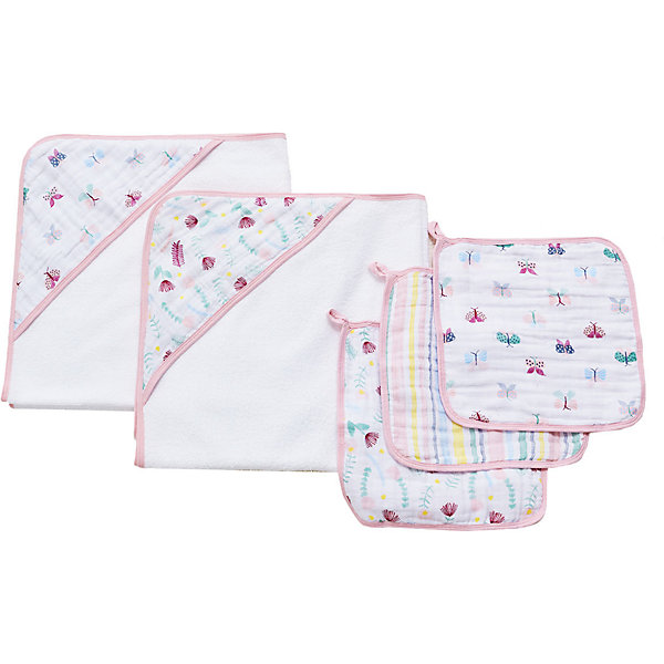 Купить Набор полотенец для лица и рук Aden Anais Floral fauna, 3 шт, aden+anais, США, Унисекс