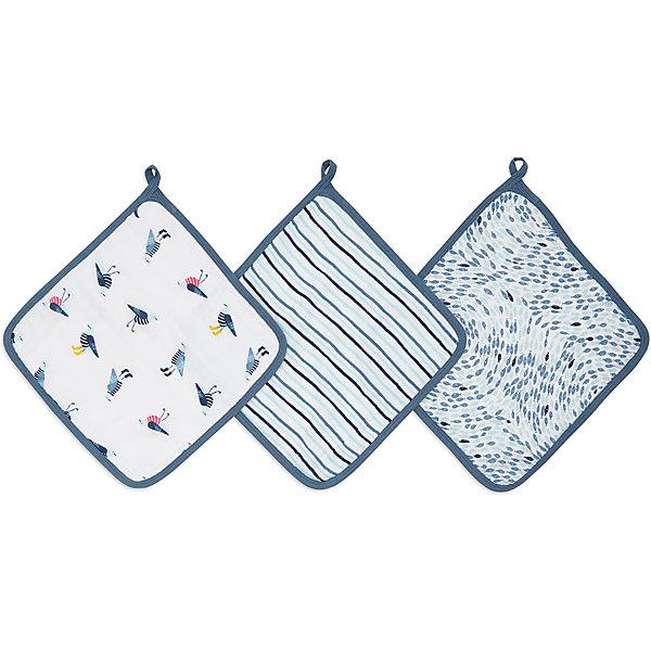 Купить Набор полотенец для лица и рук Aden Anais Seashore, 3 шт, aden+anais, США, Унисекс