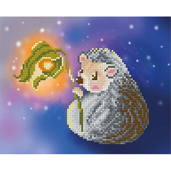 """Алмазная мозаика Фрея """"Ежик с фонариком"""", 22х18 см"""