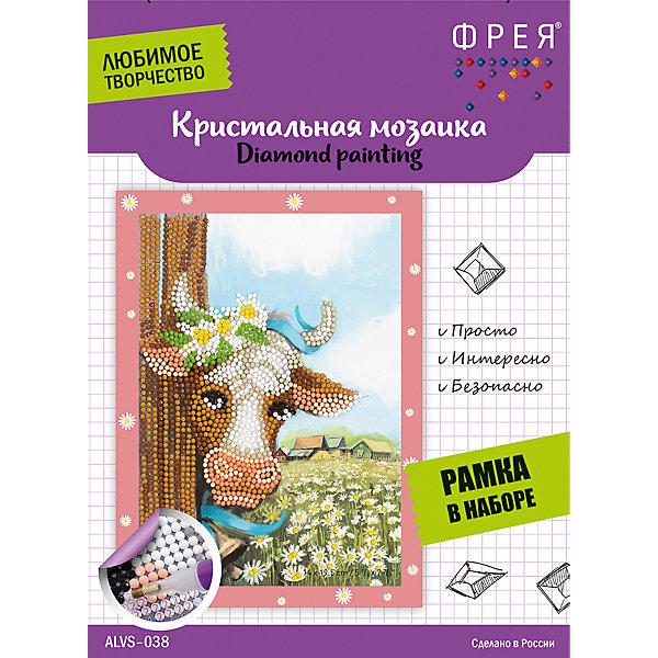 Купить Алмазная мозаика Фрея Буренка , 14х19, 5 см, Россия, Унисекс