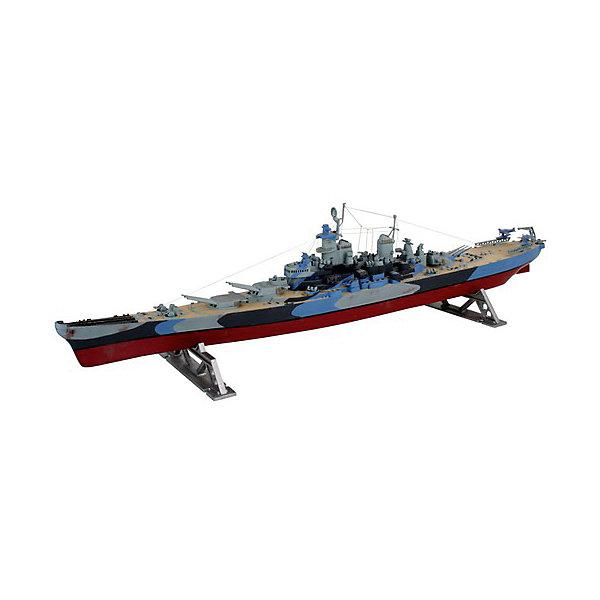 Военный корабль USS Missouri (1/535)Корабли и подводные лодки<br>Характеристики товара:<br><br>• возраст: от 10 лет;<br>• масштаб: 1:535;<br>• количество деталей: 36 шт;<br>• материал: пластик; <br>• клей и краски в комплект не входят;<br>• длина модели: 50,2 см;<br>• бренд, страна бренда: Revell (Ревел),Германия;<br>• страна-изготовитель: Китай.<br><br>Сборная модель «Военный корабль USS Missouri» поможет вам и вашему ребенку придумать увлекательное занятие на долгое время. Корабль выполнен в масштабе 1:535. Игрушка имеет высокую степень детализации, что делает ее точной копией настоящего морского судна. Корабль является одним из крупнейших и самых мощных кораблей в ВМС США.<br><br>Набор для склеивания включает в себя 75 пластиковых элементов, а также подробную инструкцию. Готовый пароход можно установить на подставку, входящую в набор, и он украсит стол или книжную полку ребенка. Обращаем ваше внимание на тот факт, что для сборки этой модели клей и краски в комплект не входят. <br><br>Процесс сборки развивает интеллектуальные и инструментальные способности, воображение и конструктивное мышление, а также прививает практические навыки работы со схемами и чертежами.<br><br>Сборную модель «Военный корабль USS Missouri», 75 дет., Revell (Ревел) можно купить в нашем интернет-магазине.<br>Ширина мм: 135; Глубина мм: 56; Высота мм: 518; Вес г: 322; Возраст от месяцев: 72; Возраст до месяцев: 1164; Пол: Мужской; Возраст: Детский; SKU: 1696204;