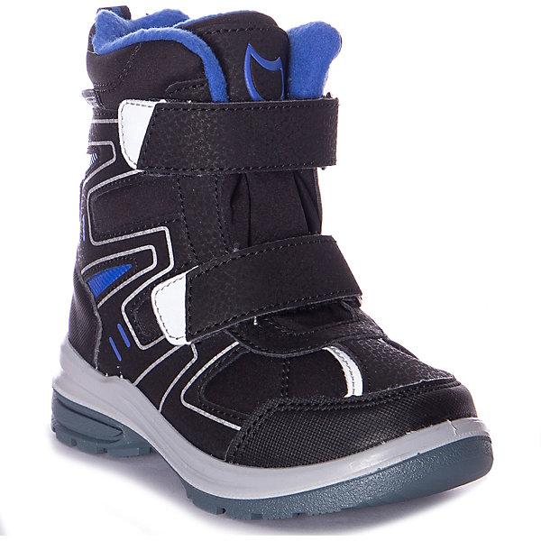 Утеплённые ботинки Котофей цвет черный/серый