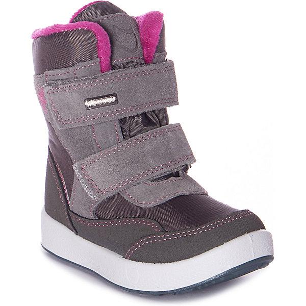 Утеплённые ботинки Котофей серого цвета