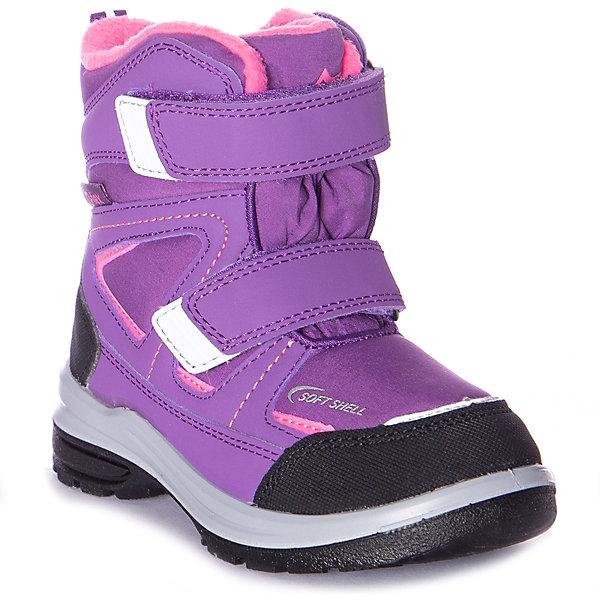 Утеплённые ботинки Котофей фиолетового цвета